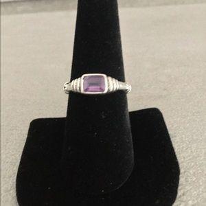 925 sterling amethyst ring